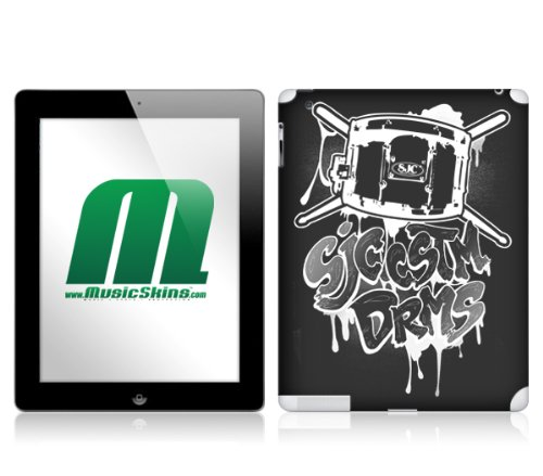 Unbekannt MusicSkins Schutzfolie für Apple iPad 2 (Motiv SJC Drums - Graff)