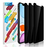 YMHML [3 Pack] Privacy Screen Protector for iPhone 11 / iPhone XR (6.1 inch), Anti Spy Tempered Glass Case Friendly Bubble Free Easy Installation