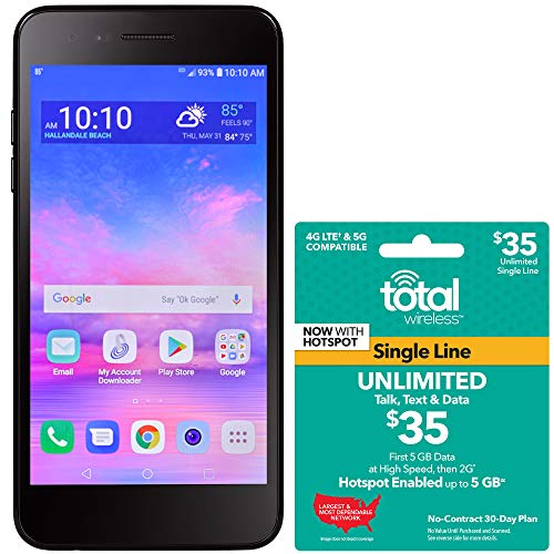 Total Wireless LG Rebel 4 4G LTE Prepaid Smartphone with $35 Airtime Bundle