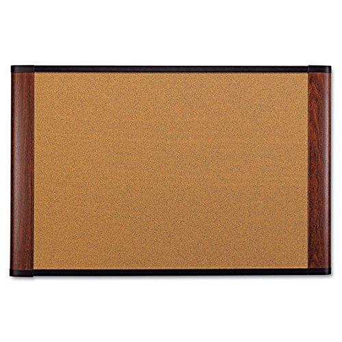 3M Graphite Blend Cork Board, 72 x 48, Mahogany Finish Frame (C7248MY)