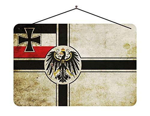 Blechschild Deuschland Fahne länder Flagge mit Adler mit Kordel 20x30cm