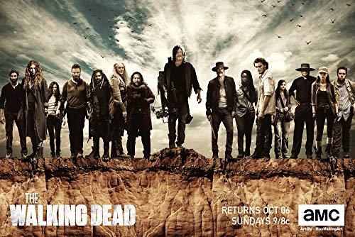 GZCJHP The Walking Dead Poster Season 10~1 Zombie TV Series Art Silk Poster Canvas Print 13x20 24x36 inch for Room Decor Decoration-008 (20x30cm Canvas)
