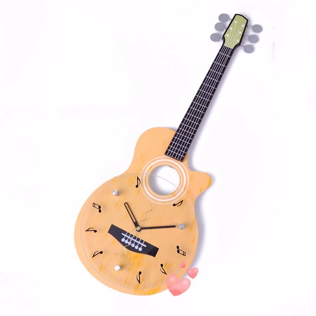 Modern Creative Guitar Home Decor Reloj de pared para niños Non ...