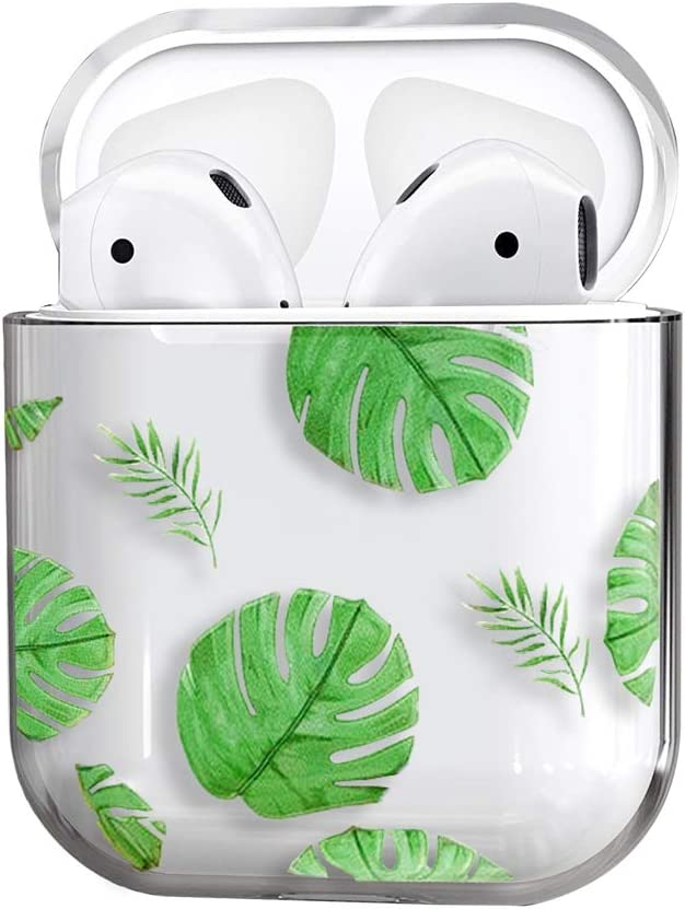 Amazon Com Airpods Case Cute Clear Smooth Tpu No Dust Shockproof Cover Case For Apple Airpods 2 1 Kawaii Fun Cases For Girls Kids Teens Air Pods Banana Leaf Electronics