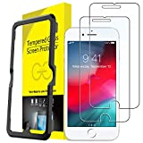 JETech Protector de Pantalla para iPhone 8 Plus, iPhone 7 Plus, iPhone 6s Plus, iPhone 6 Plus, Vidrio Templado, con Herramienta de Fácil Instalación, 2 Unidades