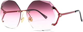 Irregular Large Frame Sunglasses Gradient Color HD Lens UV Protection for Men and Women,C4