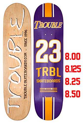 Troble Skateboards Stronger Skateboard-Brett/Decks 8,0 8,1 8,25 8,50 Zoll / 21,6 cm, nordamerikanisches Ahornholz (D11), Blank, 8.50