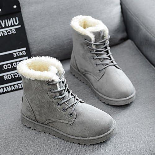 HOESCZS zapatos para mujer botas De Nieve para El Invierno botas Gruesas De Martin con botas Clásicas para mujer botas De Algodón zapatos para mujer