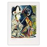zxddzl Decoración para el hogar Impresión Lienzo Arte Cuadro en la Pared Cartel Impresiones en Lienzo Pintor español Picasso 50x70cm SIN Marco K07362