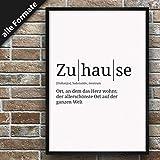 Definition: Zuhause   DIN A3   Premium Spruch-Poster für