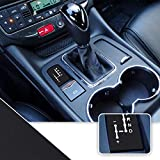 Optix Shifter Gear Position Indicator Vinyl Overlay Wrap Decal Compatible with Maserati Granturismo Quattroporte - Matte Black