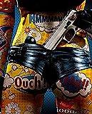 Pintura 5D Diamante para Adultos y Niños Pistola en el culo Taladro completo Bordado Redondo Kits de Punto de cruz Artesanía Decoración de Pared para el Hogar Gift-60x80cm