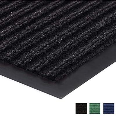 Gorilla Grip Original Low Profile Rubber Door Mat, 29x17, Heavy Duty, Durable Doormat for Indoor and Outdoor, Waterproof, Easy Clean, Home Rug Mats for Entry, Patio, High Traffic, Black