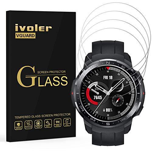 iVoler 4 Pezzi Pellicola Vetro Temperato per Honor Watch GS PRO Fossil Gen 5E 44mm, Pellicola Protettiva Protezione per Schermo per Honor Watch GS PRO Fossil Gen 5E 44mm