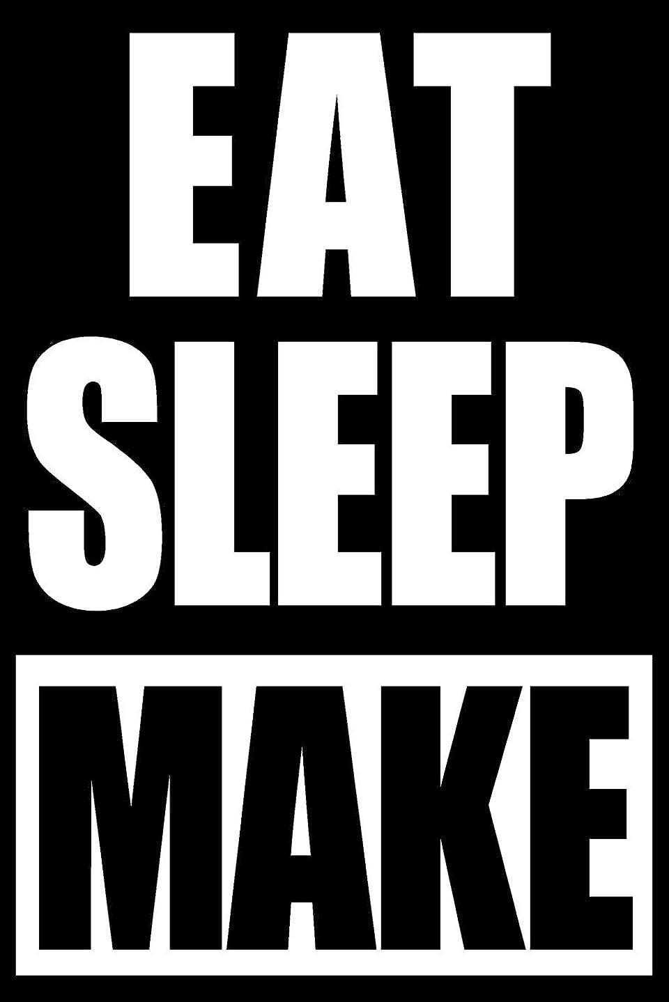 頭痛被害者にやにやEat Sleep Make | Funny Art Metal worker Gift Notebook, Medium College Ruled Journal