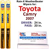 Rain-X WeatherBeater Wiper Blades for 2007 Toyota Camry Set Rain-X WeatherBeater Conventional Blades Wipers Set Bundled with MicroFiber Interior Car Cloth