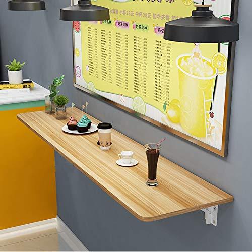 Table Longue Pliante Murale Murale Durable Murale à Manger Murale et Chaise de Bar Dessert Magasin Rebord de fenêtre Longueur 100cm 120cm 140cm