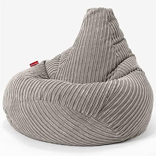 Lounge Pug®, Gaming Sitzsack Sessel, Cord Nerzfarben