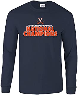 Elite Fan Shop Virginia Cavaliers National Basketball Champions Long Sleeve Tshirt 2019 Bold Navy