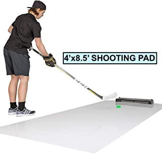 Better Hockey Extreme Passing Kit Pro - Great Training Aid for Shooting, Stickhandling and One Timers - Large Shooting Pad with Puck Rebounder - Simulates The Feel of Real Ice