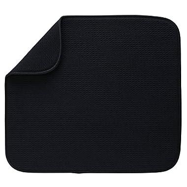 S&T Microfiber Dish Drying Mat, 16  x 18 , Black