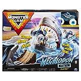 Monster Jam Juego Oficial de Megalodon Mayhem con Exclusivo camión Monstruo de Escala 1:64 Megalodon Fundido a presión