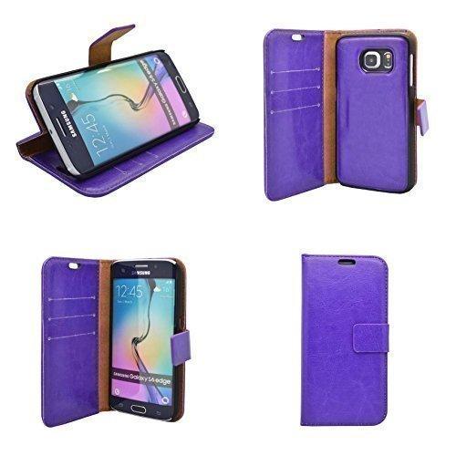 Schutzhülle für Samsung Galaxy S6 Edge Klappbar Einfarbig Lila Hülle