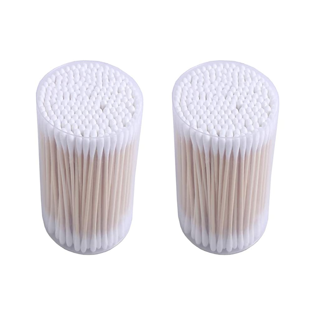 共同選択分離ダンプOnior 二重頭の木の棒赤ちゃんの綿棒を美容メイクのクリーニング赤ちゃんの衛生個人的な毎日のケア(2箱)