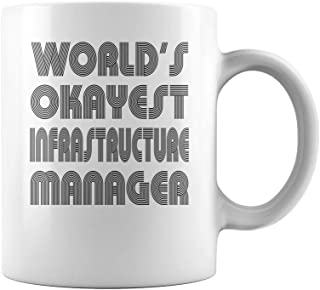 Worlds Okayest Infrastructure Manager Job Title Mug - Coffee Mug (White)
