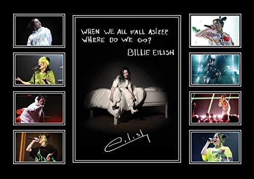 Techland13 Billie Eilish signierter Fotodruck, A4, mit Autogramm