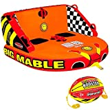 Sportsstuff Big Mable & Booster Ball Combo   1-2 Rider Towable Tube for Boating