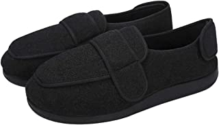 IPENNY Men's Adjustable Non-Slip Diabetic Slippers Extra Wide Memory Foam Walking Shoes Comfy Cozy Arthritis Edema House Shoes Outdoor/Indoor Slippers for Foot Relief-Bunion, Flat Feet, Hammertoes
