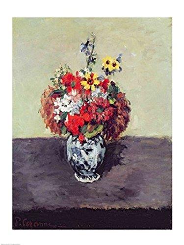 The Poster Corp Paul Cezanne – Flowers in a Delft vase Kunstdruck (60,96 x 91,44 cm)