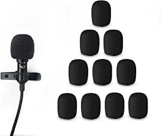 Morfone 10 Pack Lavalier Microphone Windscreen Foam Cover Headset Lapel Mic Mini Windscreen Cover