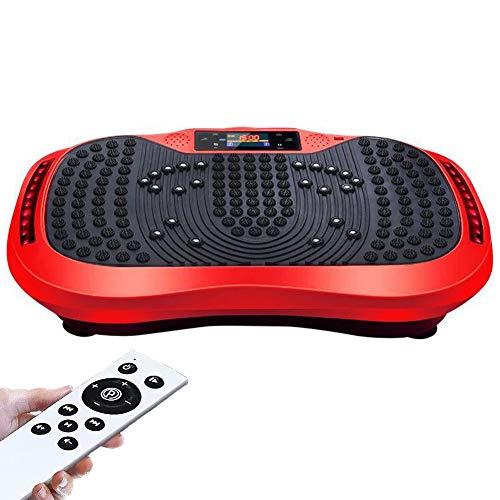 Workout 3D Familia Plataforma Vibratoria de Fitness con Bandas de Resistencia/Control Remoto Individual Máquina de Ejercicio Músculos Masaje Relajar Rehabilitación,Red