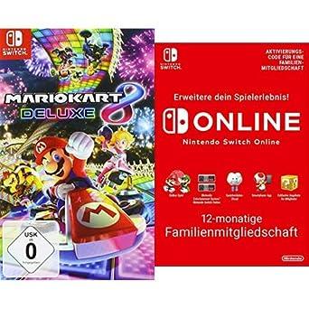 Mario Kart 8 Deluxe Nintendo Switch Switch Online 12 Monate Familie Download Code Amazon De Games