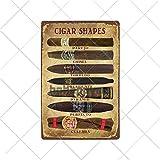 muzi928 Agujero de hojalata Cigarros Carteles de Chapa Vintage Metal Pin Up Poster Arte de la Pared ...
