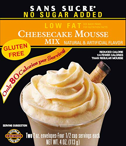 SANS SUCRE Cheesecake Mousse Mix - Sugar Free and Gluten Free