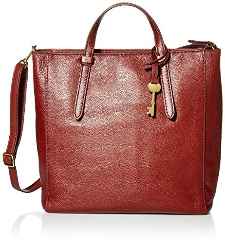 Fossil Women's Camilla Leather Convertible Small Backpack Handbag, Henna