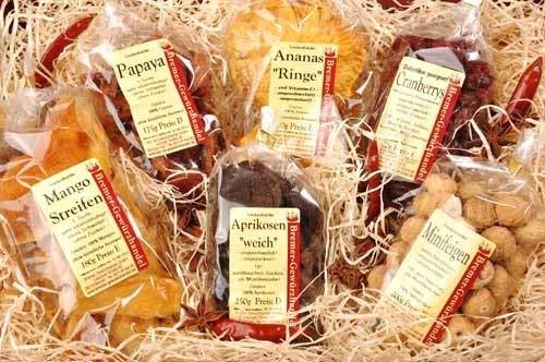 Genuss-Box Geschenksets trockenfrüchte, Naschen ohne Reue, Früchtebox, 6 Tlg. - Bremer Gewürzhandel