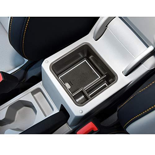 LFOTPP T-Cross SUV Handschuhfach Armlehne Aufbewahrungsbox Center Console Armrest Storage Box Innen (Weiß)