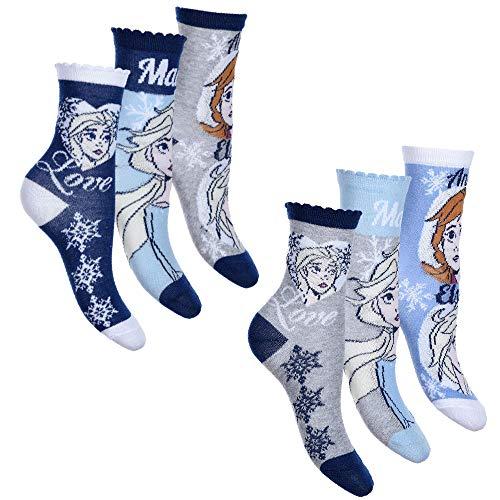 Disney Eiskönigin 2 Mädchen Socken Strümpfe 6er Pack (Farbmix 1, 27-30)