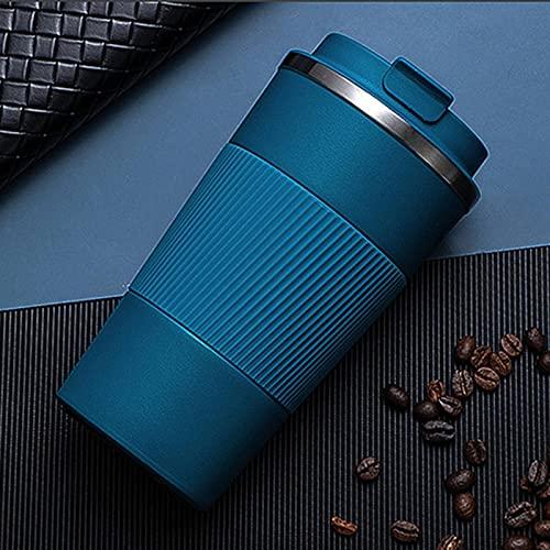 NC Tazza da caffè Doppia in Acciaio Inossidabile da 380 Ml / 510 Ml con Bottiglia d'Acqua Isolata da Viaggio con Scatola Antiscivolo