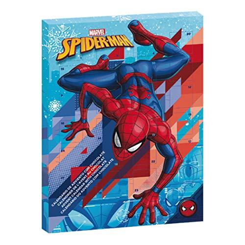 Marvel Spiderman Calendrier de l'Avent de Chocolat au Lait Noël 2019 Exclusif