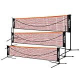 FBSPORT Portable Badminton Net Set, Adjustable Height Tennis, Kids Volleyball, Soccer Tennis Badminton Net...