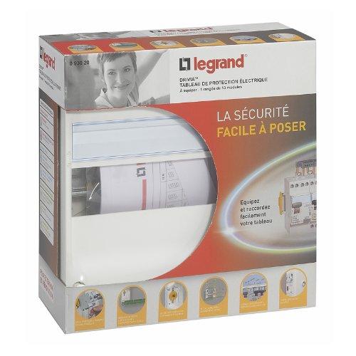 Legrand 093020 Coffret à Équiper avec Borniers, 1 Rangées, 13 Modules, 250mm X 250mm X 103.5mm, Blanc
