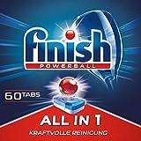 Finish All in 1 Spülmaschinentabs, phosphatfrei – Geschirrspültabs mit kraftvollem Powerball...