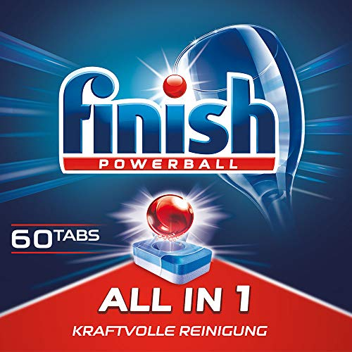 Finish All in 1, XXL Pack, Spülmaschinentabs, Spülmaschine, Geschirr, Geschirrspüler, Spülen, Reinigung, 60 Tablets