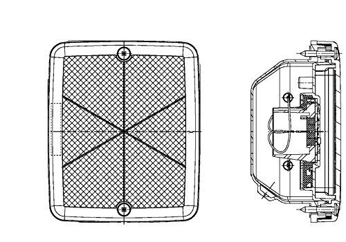 HELLA 2ZR 013 236-321 Feu de recul - 24V - Montage encastré - pour fixation à la verticale - Câble: 100mm