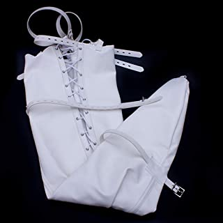 CQ Adult Alternative Games Stimulating fun Women's Products Sexy Legs Tight Bags Pants Leather Binding Bags T-shirt (Color : White)